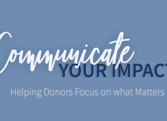 Communicate your Impact