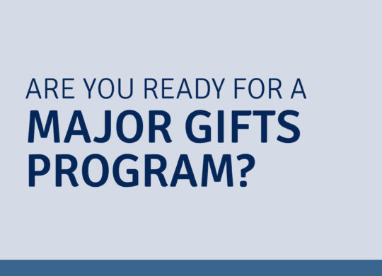major gifts program