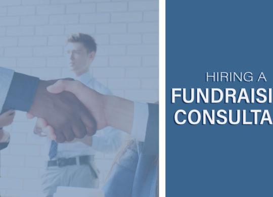 hiring a fundraising consultant